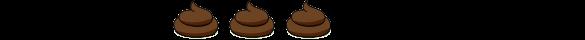 three piles of poop